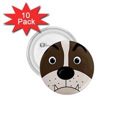 Bulldog face 1.75  Buttons (10 pack)
