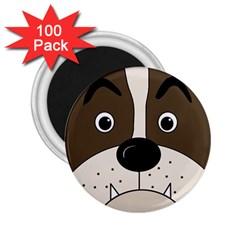 Bulldog face 2.25  Magnets (100 pack)