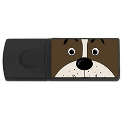 Bulldog face USB Flash Drive Rectangular (1 GB)