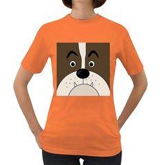 Bulldog face Women s Dark T-Shirt