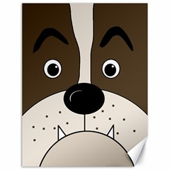 Bulldog face Canvas 18  x 24