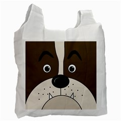 Bulldog face Recycle Bag (Two Side)