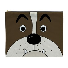 Bulldog face Cosmetic Bag (XL)