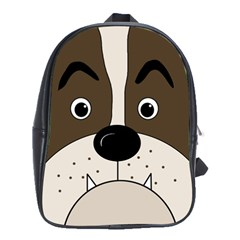 Bulldog face School Bags(Large)