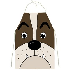 Bulldog face Full Print Aprons