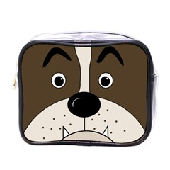 Bulldog face Mini Toiletries Bags