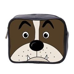 Bulldog face Mini Toiletries Bag 2-Side