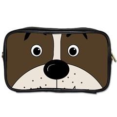 Bulldog face Toiletries Bags