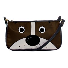 Bulldog face Shoulder Clutch Bags