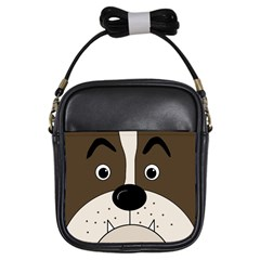 Bulldog face Girls Sling Bags