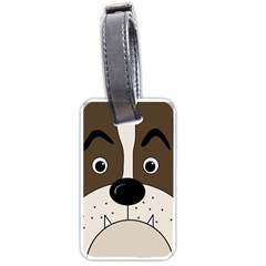 Bulldog face Luggage Tags (One Side)