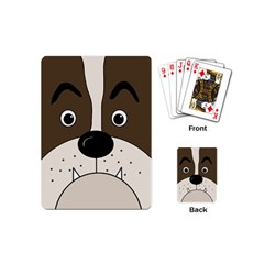 Bulldog face Playing Cards (Mini)