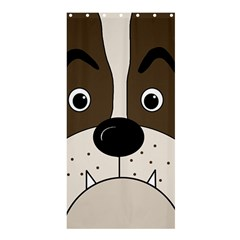 Bulldog face Shower Curtain 36  x 72  (Stall)