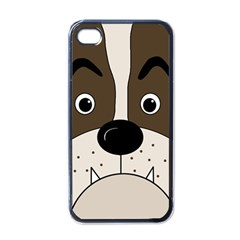 Bulldog face Apple iPhone 4 Case (Black)