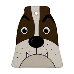 Bulldog face Bell Ornament (2 Sides)
