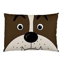 Bulldog face Pillow Case (Two Sides)