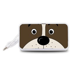 Bulldog face Portable Speaker (White)