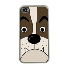 Bulldog face Apple iPhone 4 Case (Clear)