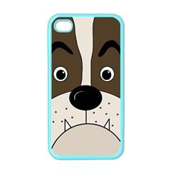 Bulldog face Apple iPhone 4 Case (Color)