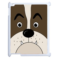 Bulldog face Apple iPad 2 Case (White)