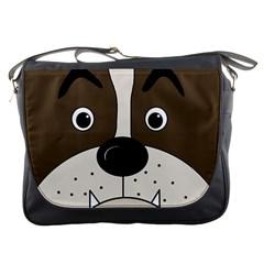 Bulldog face Messenger Bags
