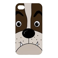 Bulldog face Apple iPhone 4/4S Premium Hardshell Case
