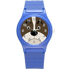 Bulldog face Round Plastic Sport Watch (S)