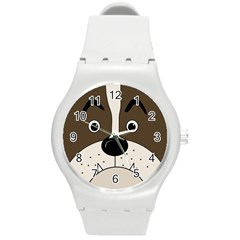 Bulldog face Round Plastic Sport Watch (M)
