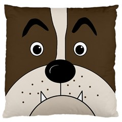 Bulldog face Large Cushion Case (One Side)