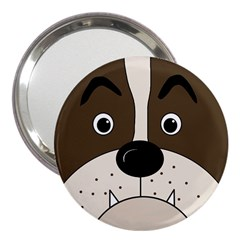 Bulldog face 3  Handbag Mirrors