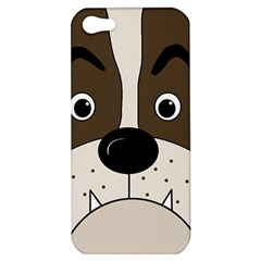 Bulldog face Apple iPhone 5 Hardshell Case