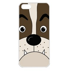 Bulldog face Apple iPhone 5 Seamless Case (White)