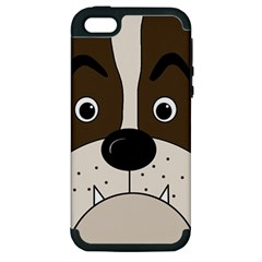 Bulldog face Apple iPhone 5 Hardshell Case (PC+Silicone)