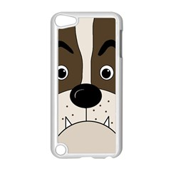 Bulldog face Apple iPod Touch 5 Case (White)