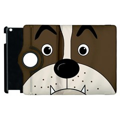 Bulldog face Apple iPad 3/4 Flip 360 Case