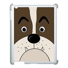Bulldog face Apple iPad 3/4 Case (White)