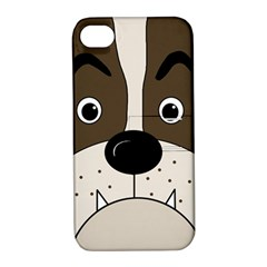 Bulldog face Apple iPhone 4/4S Hardshell Case with Stand
