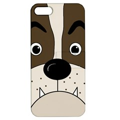Bulldog face Apple iPhone 5 Hardshell Case with Stand