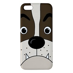 Bulldog face Apple iPhone 5 Premium Hardshell Case