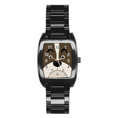 Bulldog face Stainless Steel Barrel Watch