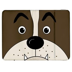 Bulldog face Samsung Galaxy Tab 7  P1000 Flip Case