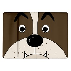 Bulldog face Samsung Galaxy Tab 10.1  P7500 Flip Case