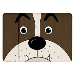 Bulldog face Samsung Galaxy Tab 8.9  P7300 Flip Case