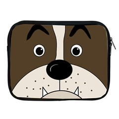 Bulldog face Apple iPad 2/3/4 Zipper Cases