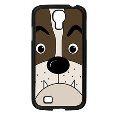Bulldog face Samsung Galaxy S4 I9500/ I9505 Case (Black)