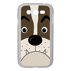 Bulldog face Samsung Galaxy Grand DUOS I9082 Case (White)