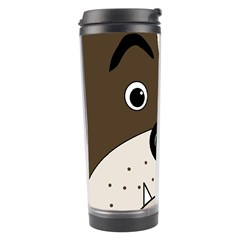 Bulldog Face Travel Tumbler