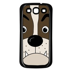 Bulldog face Samsung Galaxy S3 Back Case (Black)