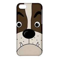 Bulldog face Apple iPhone 5C Hardshell Case