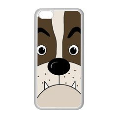 Bulldog face Apple iPhone 5C Seamless Case (White)